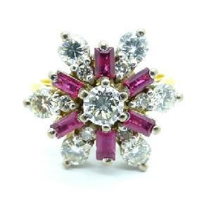 floral diamond rings